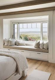 Alternative to a bay window. Bright bedroom with amazing relaxing place and  view.