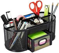 AmazonBasics DSN-02950 <b>Mesh Desk</b> Organizer, <b>Black</b>