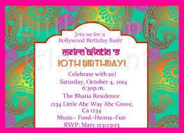 Indian Invitation Bollywood Invitations Bollywood Party Invites