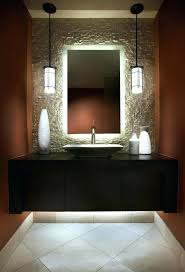 modern powder room lighting create drama with the mirror is and highlights texture of design powder room lighting