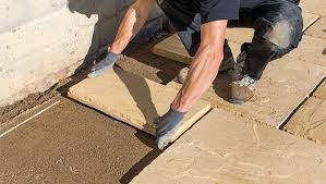 laying patio on sand how to lay patio