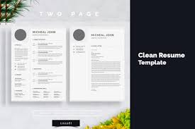 Minimal Resume 3 Pages Cv Template For Word Two Page Resume Cover Letter In Word Teacher Resume Simple Resume