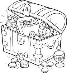 Bible Treasure Chest Coloring Page More