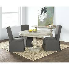 reclaimed wood grey round dining table by home weathered with bench