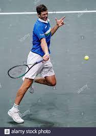ROTTERDAM, NIEDERLANDE - MÄRZ 4: Hubert Hurkacz aus Polen während seines  Spiels gegen Stefanos Tsitsipas aus Griechenland beim ABN AMRO World Tennis  Tou 48th Stockfotografie - Alamy