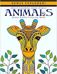 Adult Coloring Books Animals Stress Relief Coloring