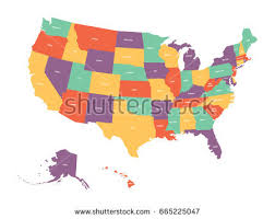 colorful usa map states capital cities stock illustration 36109075 Map Of Us With Labels political map of usa, united states of america colorful with white state names labels map of usa with labels