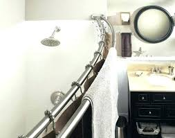 curved shower curtain aluminum double adjule curved shower rod in satin nickel