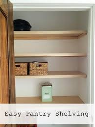 Wood closet shelving Particle Board Blesser House Easiest Pantry Or Closet Shelving Ana White Woodworking Projects