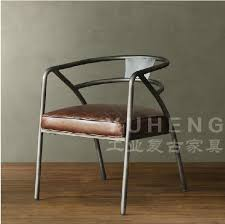 2019 american country retro leather chair coffee chair lounge chair sofa chair wrought iron chairs from zhoudan5249 402 7 dhgate com