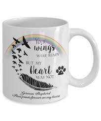 pet bereavement memorial gifts your wings were ready but my heart was not your dog breed or name paw prints forever on my heart