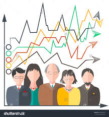 group cartoon business people on a white background teamwork the group cartoon business people on a white background teamwork the graph shows the innovation
