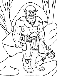 Small Picture Troll Giant color page Coloring pages for kids Fantasy