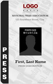 Blank Id Card Template Inspiration 44 Best Press Reporter ID Card Templates Microsoft Word ID Card