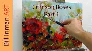 art class oil painting demo part 1 crimson roses muncie indiana you