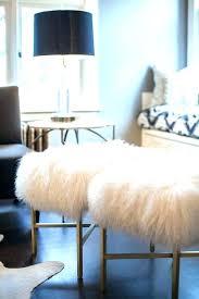 mongolian lamb stool fur bench fur stool shes crafty sheepskin bench lamb fur stools faux fur
