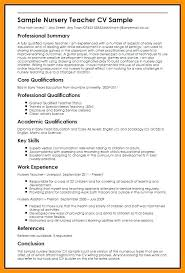 Teacher Resume Objective Sample Nursery Teacher Resume Viragoemotion Com