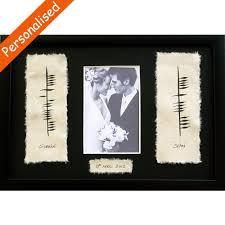 ogham wedding photo frame made in ireland