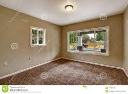 brown carpet floor. Beige Empty Room With Brown Carpet Floor