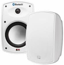 btp650 wireless 6 5 bluetooth 2 way outdoor patio speaker pair composite resin low resonator cabinet