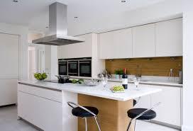White And Oak Kitchen - White contemporary kitchen