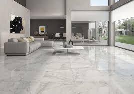 white living room flooring tiles