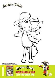 Shaun The Sheep Christmas Coloring Pages