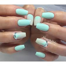Nail Designs With Mint Color Spring Nails Mint Green Nail Art Green Nails Mint Green