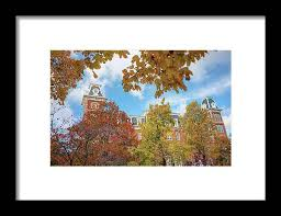 University of Arkansas Razorback Campus during Autumn Framed Print by  Gregory Ballos