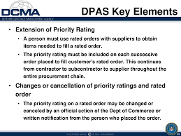 Dpas Priority Rating Related Keywords Suggestions Dpas