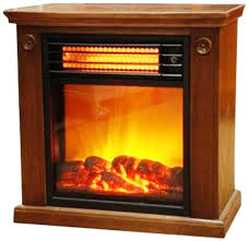 ClassicFlame Rolling Mantel With Infrared Quartz Electric Infrared Fireplace Heater