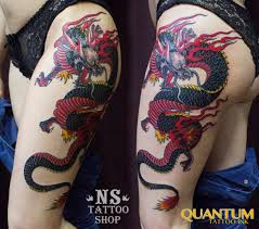татуировка дракон на бедре значение фото эскизы