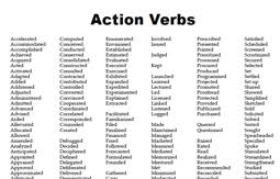 What Are Action Verbs List Action Verbs Sdsu
