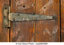 old rusty metal door hinge csp29645681