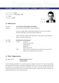 Resume Examples Pdf As Fresh English Resume Example English Cv
