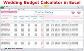 Wedding Planning Budget Calculator Wedding Budget Cost Calculator Excel Spreadsheet Template Etsy