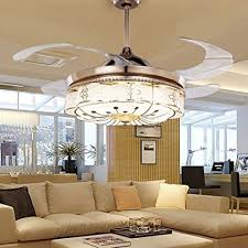 COLORLED Invisible Ceiling Fans Living Room Remote Control Fan Lights  Bedroom Simple Modern Retractable Belt LED Ceiling Fans With Lights For Living Room Amazon.com