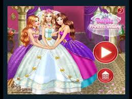 barbie princess wedding games