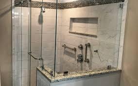 frameless barn style sliding shower