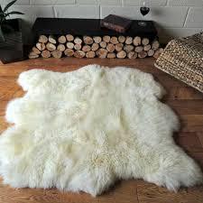double irish sheepskin rug