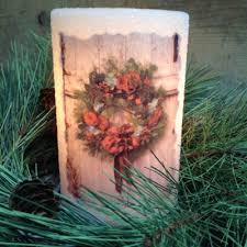 wreath lastinglite candle sleeve