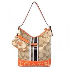 Sale. Coach In Signature Medium Khaki Shoulder Bags AYL