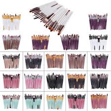 WJF <b>20pcs</b> Makeup Brushes Synthetic Make Up Brush <b>Set</b> Tools ...