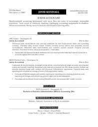 Cover Letter Junior Accountant Resume Sample With Employment