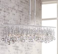 unique linear crystal chandelier 11