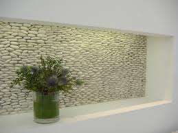 Small Picture Zen Paradise Standing Pebble Tile Installations Modern Hall