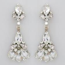 erin cole bridal jewelry tulip chandelier earrings crystal chandelier wedding earrings