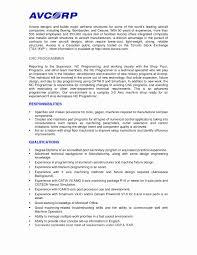 Cnc Machinist Resume Inspirational Cnc Machine Operator Resume