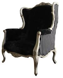 victorian modern furniture. Rethought Modern Victorian Chair Black White Stripes I Love The Different Fabrics One On Front Other Back Of Furniture O