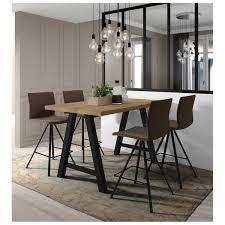 Table Haute Rectangulaire Querido Table De Cuisine Ronde Carrée